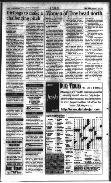 Daily Trojan, Vol. 148, No. 17, February 07, 2003