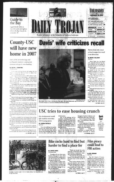 Daily Trojan, Vol. 150, No. 22, September 25, 2003