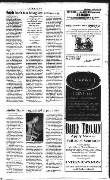 Daily Trojan, Vol. 148, No. 65, April 29, 2003