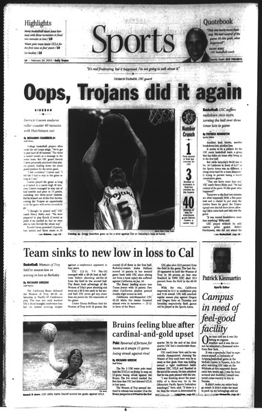 Daily Trojan, Vol. 148, No. 26, February 24, 2003