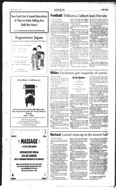 Daily Trojan, Vol. 150, No. 28, October 06, 2003