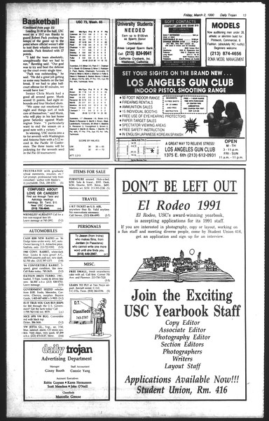 Daily Trojan, Vol. 111, No. 34, March 02, 1990
