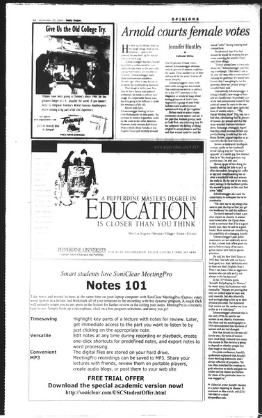 Daily Trojan, Vol. 150, No. 22, September 25, 2003