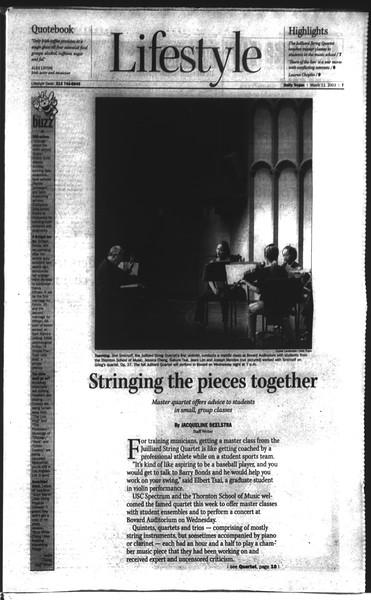 Daily Trojan, Vol. 148, No. 37, March 11, 2003