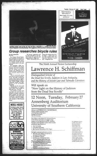 Daily Trojan, Vol. 111, No. 31, February 27, 1990