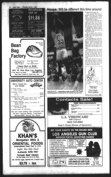 Daily Trojan, Vol. 111, No. 33, March 01, 1990