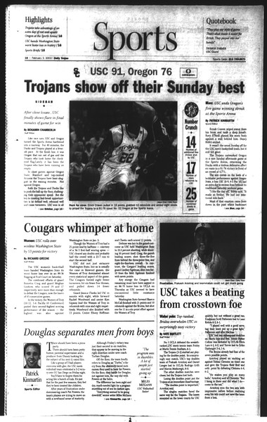 Daily Trojan, Vol. 148, No. 13, February 03, 2003
