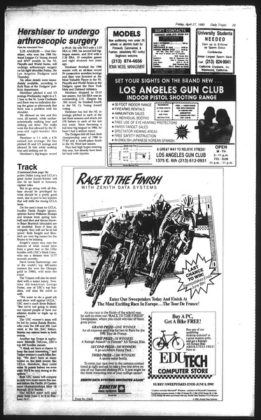 Daily Trojan, Vol. 111, No. 68, April 27, 1990
