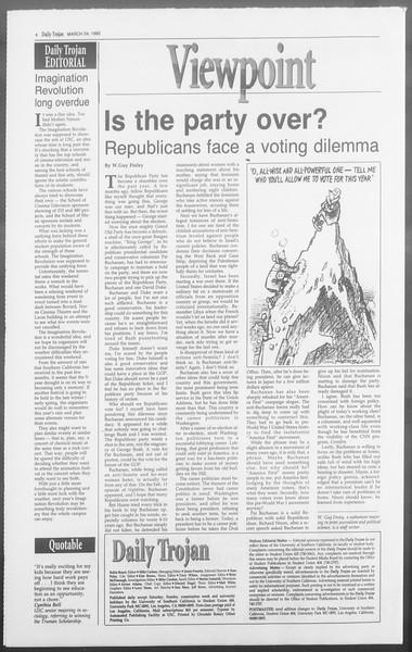 Daily Trojan, Vol. 117, No. 47, March 24, 1992