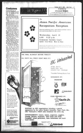 Daily Trojan, Vol. 111, No. 60, April 17, 1990