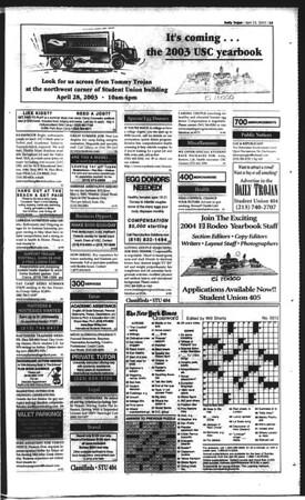 Daily Trojan, Vol. 148, No. 61, April 23, 2003