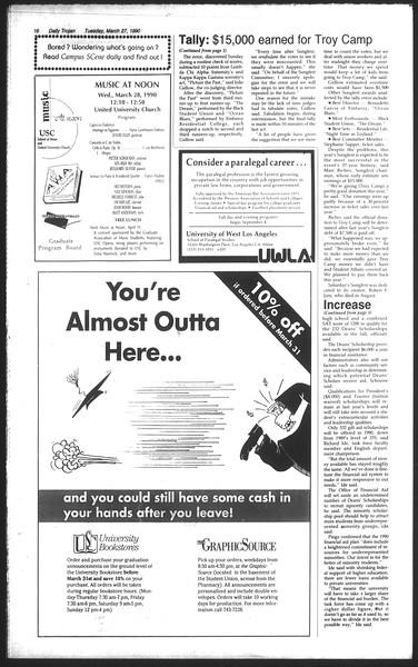 Daily Trojan, Vol. 111, No. 51, March 27, 1990