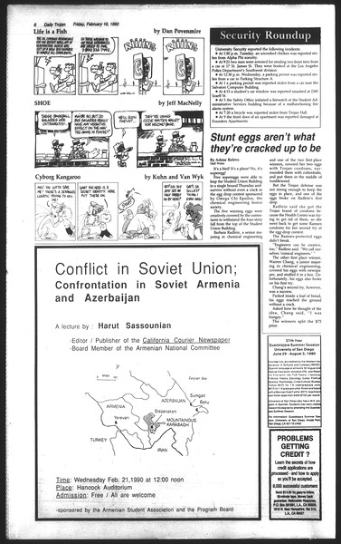 Daily Trojan, Vol. 111, No. 26, February 16, 1990