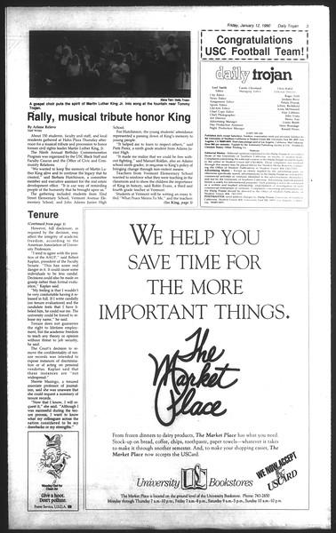 Daily Trojan, Vol. 111, No. 3, January 12, 1990