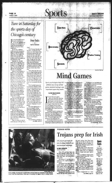Daily Trojan, Vol. 150, No. 35, October 15, 2003