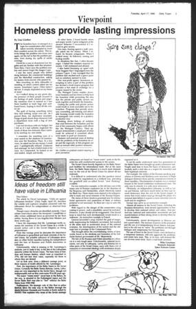 Daily Trojan, Vol. 111, No. 60, April 17, 1990