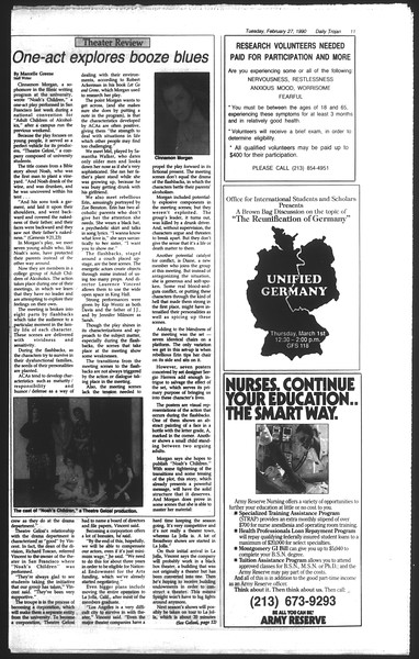 Daily Trojan, Vol. 111, No. 31, February 27, 1990