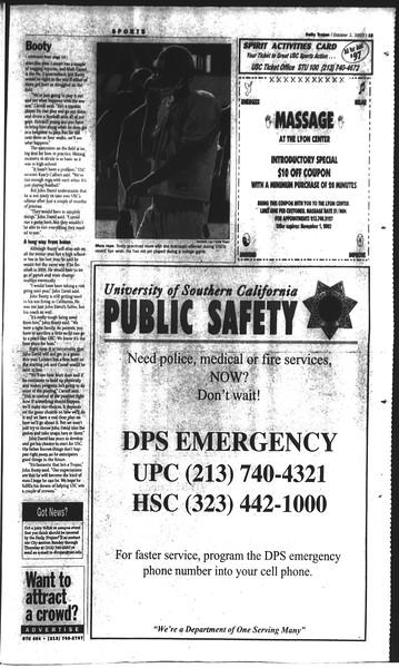 Daily Trojan, Vol. 150, No. 26, October 02, 2003