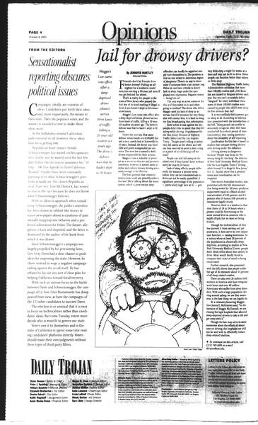 Daily Trojan, Vol. 150, No. 28, October 06, 2003
