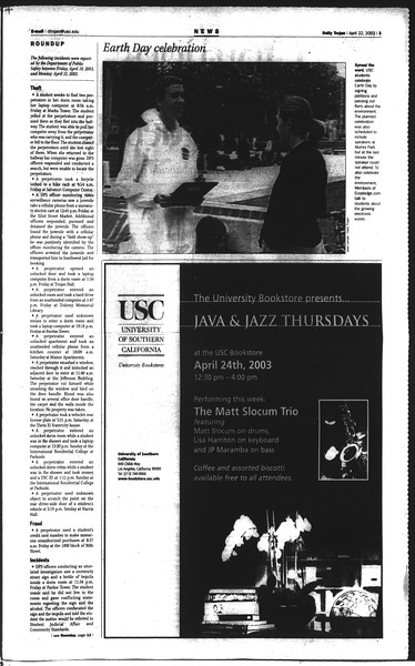 Daily Trojan, Vol. 148, No. 60, April 22, 2003