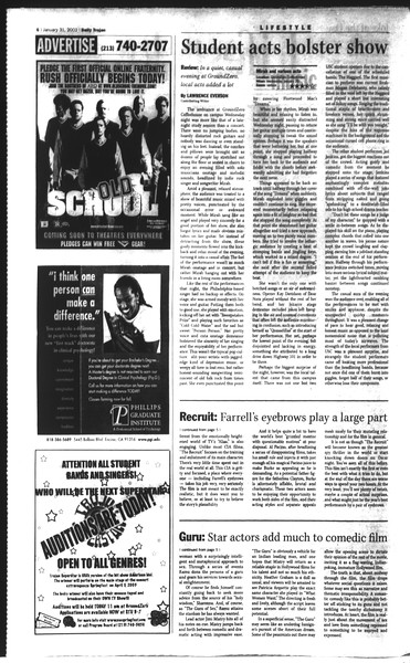 Daily Trojan, Vol. 148, No. 12, January 31, 2003