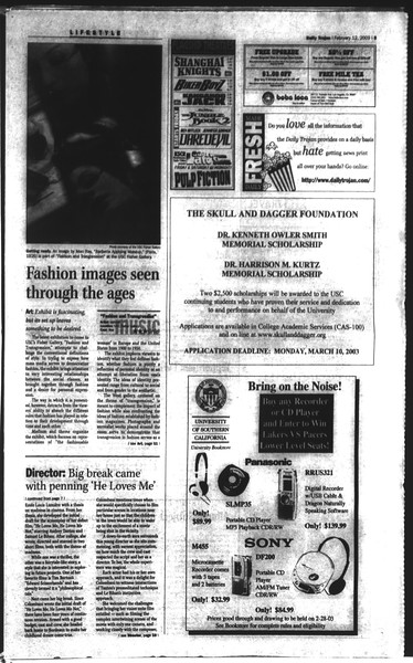 Daily Trojan, Vol. 148, No. 20, February 12, 2003