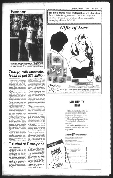 Daily Trojan, Vol. 111, No. 23, February 13, 1990