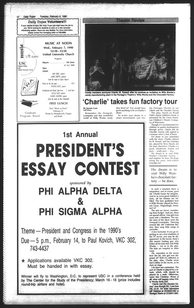 Daily Trojan, Vol. 111, No. 18, February 06, 1990