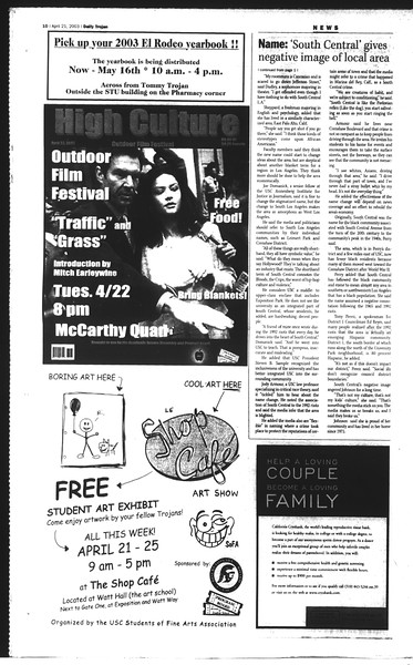 Daily Trojan, Vol. 148, No. 59, April 21, 2003
