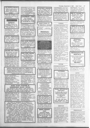 Daily Trojan, Vol. 107, No. 3, September 08, 1988