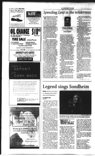 Daily Trojan, Vol. 148, No. 31, March 03, 2003