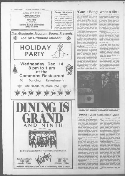 Daily Trojan, Vol. 107, No. 63, December 08, 1988