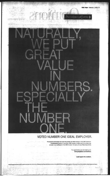 Daily Trojan, Vol. 148, No. 13, February 03, 2003