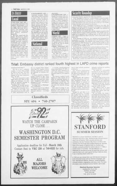 Daily Trojan, Vol. 117, No. 32, March 03, 1992