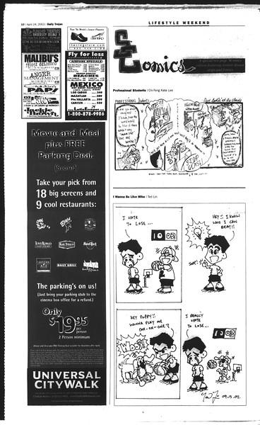 Daily Trojan, Vol. 148, No. 62, April 24, 2003