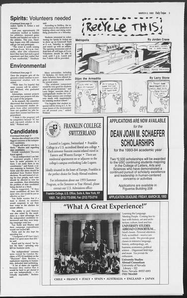 Daily Trojan, Vol. 119, No. 32, March 02, 1993