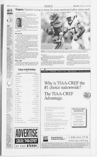 Daily Trojan, Vol. 141, No. 6, September 06, 2000
