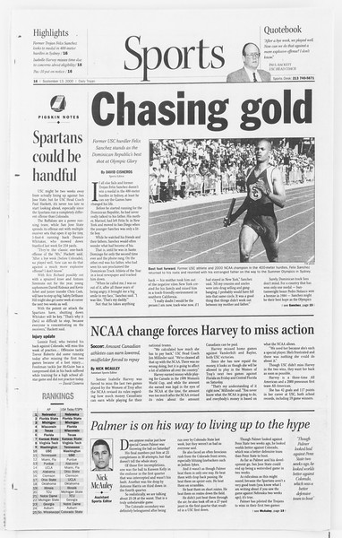 Daily Trojan, Vol. 141, No. 11, September 13, 2000