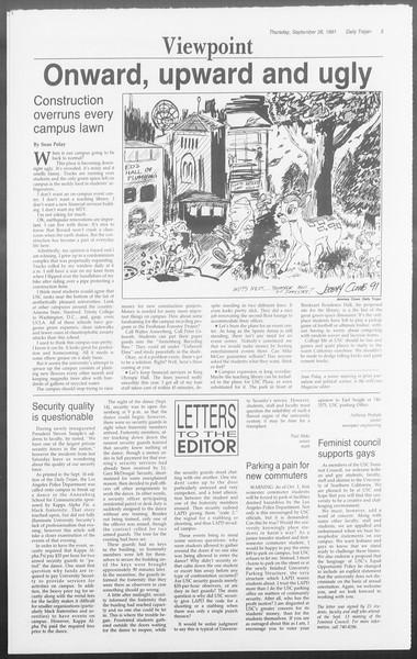 Daily Trojan, Vol. 116, No. 18, September 26, 1991