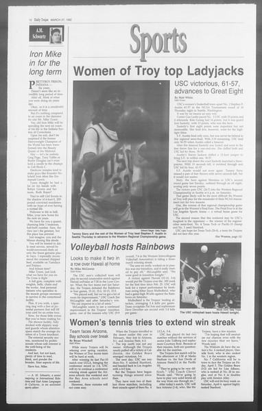 Daily Trojan, Vol. 117, No. 50, March 27, 1992