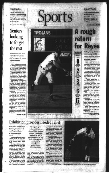 Daily Trojan, Vol. 148, No. 51, April 09, 2003