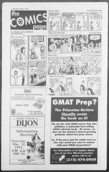 Daily Trojan, Vol. 117, No. 38, March 11, 1992