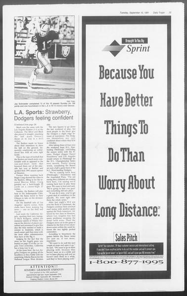 Daily Trojan, Vol. 116, No. 6, September 10, 1991