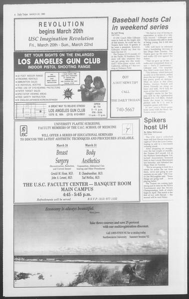 Daily Trojan, Vol. 117, No. 45, March 20, 1992