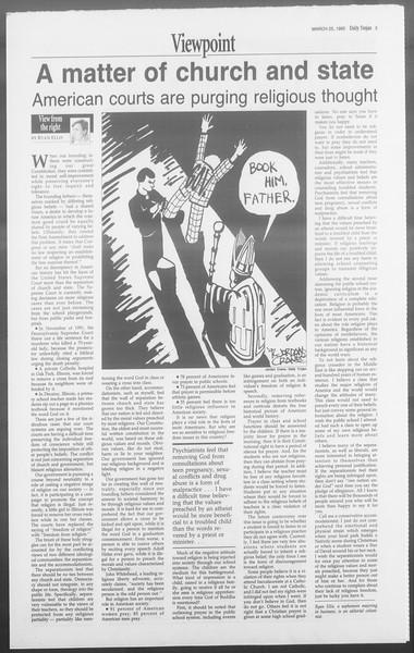 Daily Trojan, Vol. 117, No. 48, March 25, 1992
