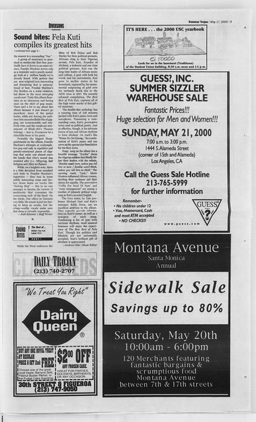 Summer Trojan, Vol. 140, No. 1, May 17, 2000
