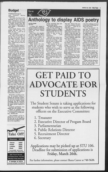 Daily Trojan, Vol. 119, No. 46, March 22, 1993