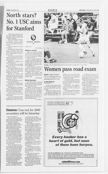 Daily Trojan, Vol. 141, No. 23, September 29, 2000