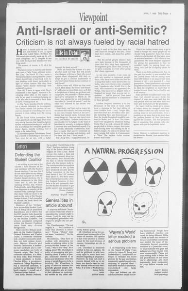 Daily Trojan, Vol. 117, No. 51, April 07, 1992