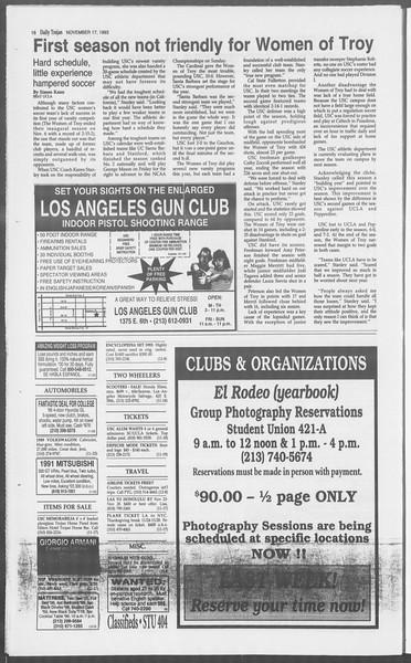 Daily Trojan, Vol. 121, No. 55, November 17, 1993